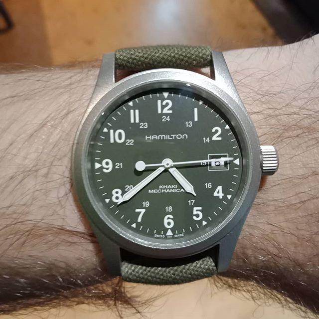 Officer Mechanical Khaki Field Mens Hamilton Watches