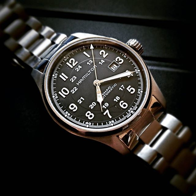 44mm Field Hamilton Reloj Auto Khaki H9IW2ED
