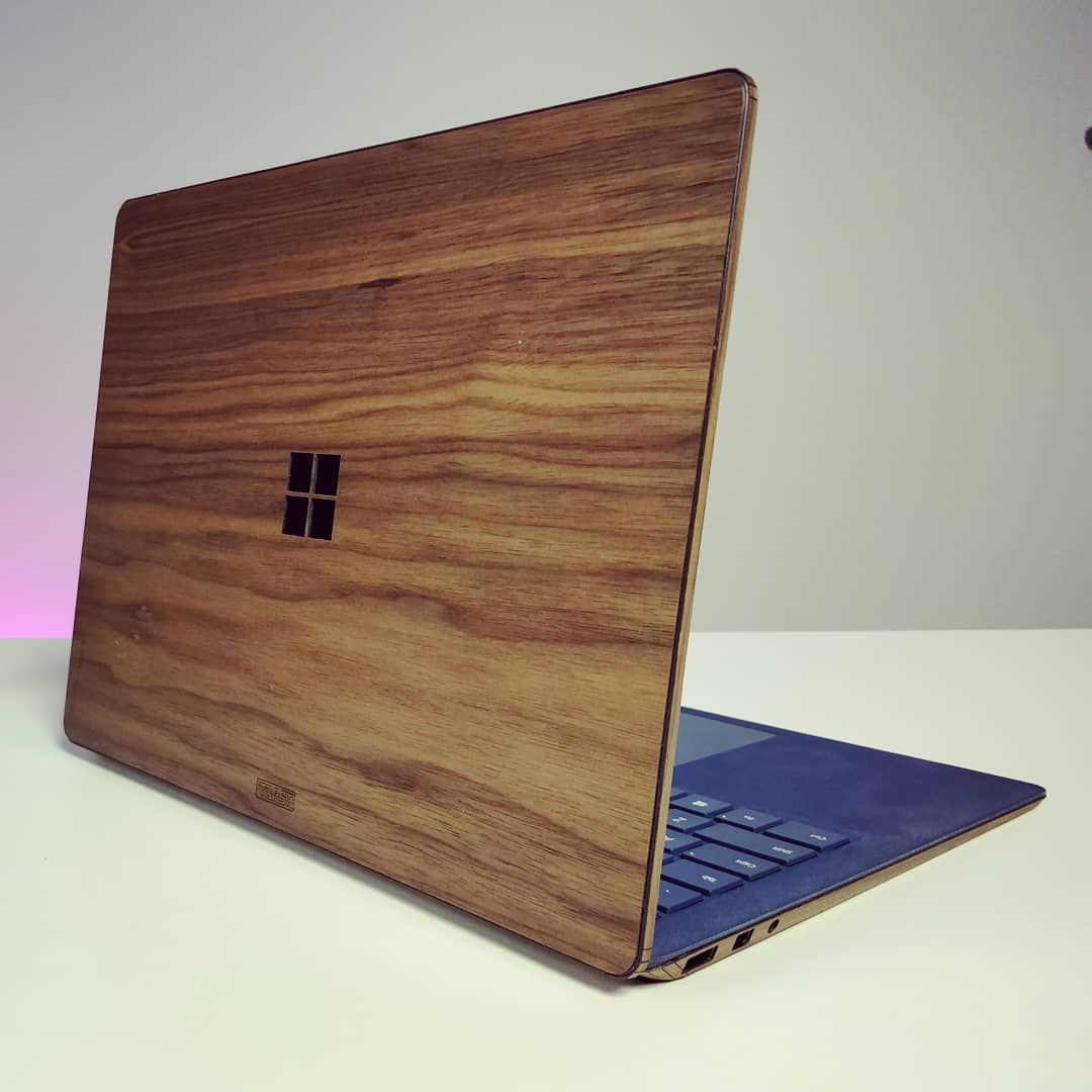 Surface laptop plus toast wood cover yay or nay review coming later this week swipe for more surface surfacelaptop toastmade